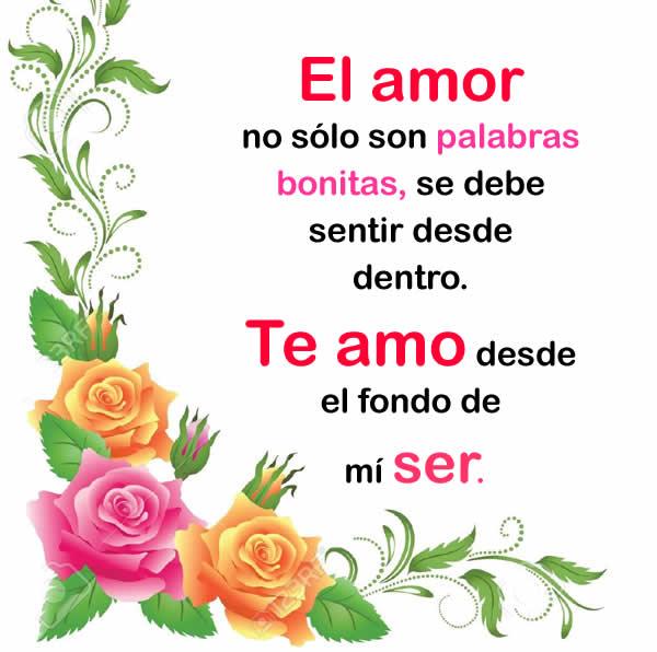 Palabras bonitas de amor