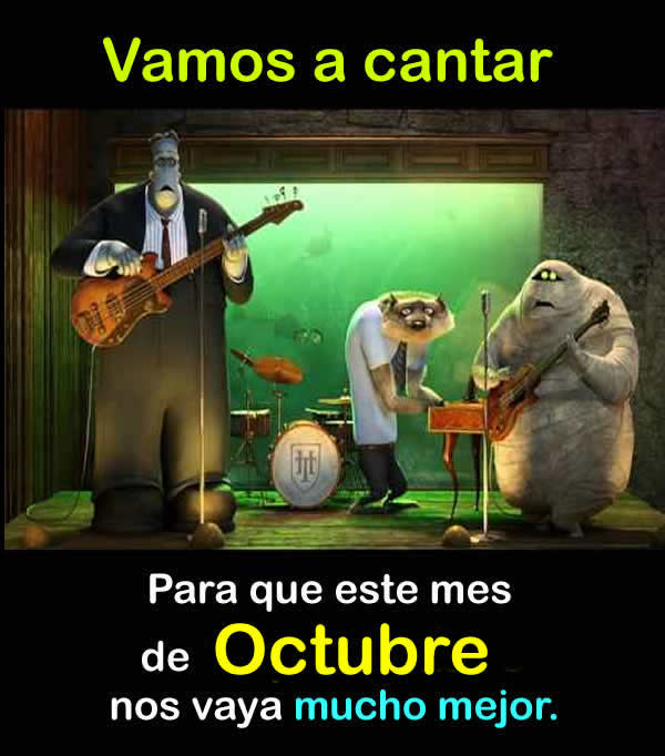 El mes de octubre