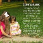 Frases bonitas para tu hermana