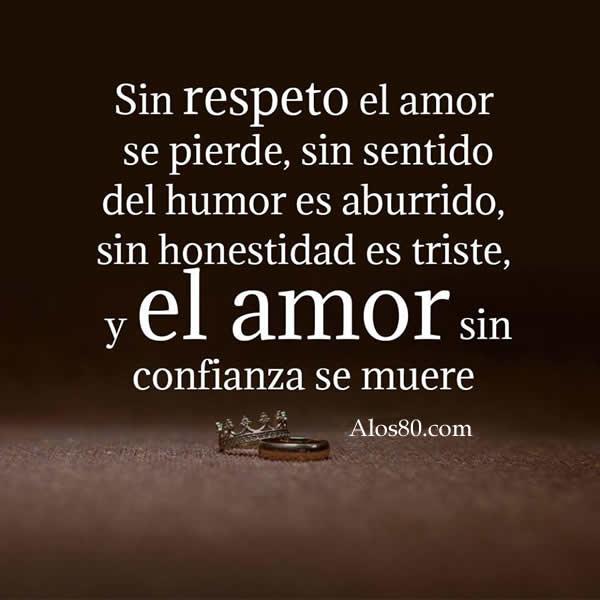 Sin respeto el amor se pierde