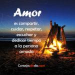 Amor es compartir y cuidar