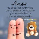 Amor es secar las lagrimas de tu pareja