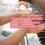 La musica es el arte mas puro