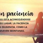 Frases con Imagenes de Ten paciencia