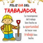 Imagenes con frases: Feliz dia del Trabajador