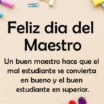 Feliz dia del Maestro 2021 con imagenes y frases